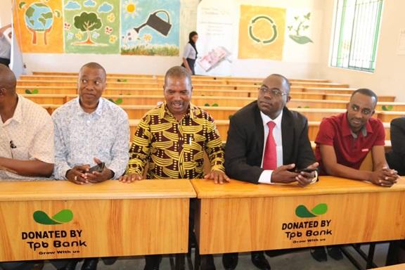 Tanzania Postal Bank donated desks and benches